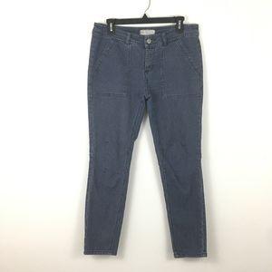 Free People Railroad Striped Denim Pants Sz 29